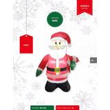 Santa Claus Muñeco Inflable Navidad 80cms Luz Led Figura
