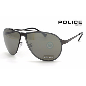 Lentes Police Spl166 569x Gunmetal - Smoke Mirror Aviador