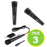 Pack 3 Micrófono Inalambrico Wg-308 Receptor 00808/ Fernapet