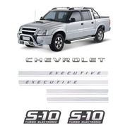 Kit Adesivos Faixas S10 Executive Chevrolet Turbo Eletronic