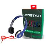 Auricular Ledstar Plegable Estereo Auxiliar Para Pc Celular