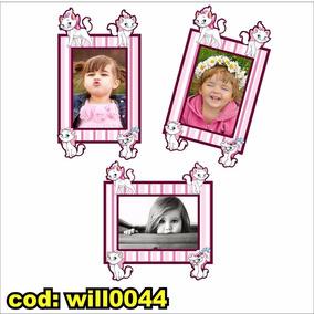 Adesivo Infantil P Montagem C Fotos Tema Gata Marie Will0044