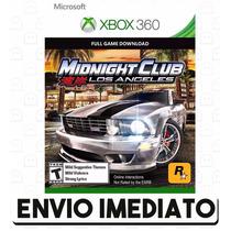 Midnight Club Los Angeles Xbox 360 Código 25 Dígitos