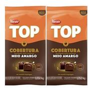 2 Chocolates Top Harald Gotas Meio Amargo Cobertura  1,050kg