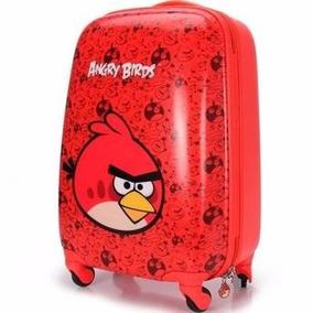 Mala Infantil Angry Birds De Rodinhas 360 Escolar E Viagem