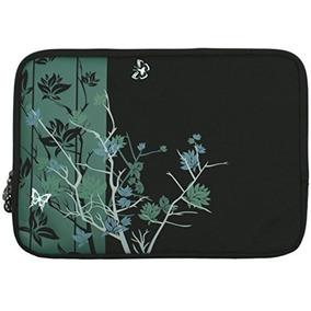 13 Pulgadas De Medianoche Verde Floral Minimalista De La Ma