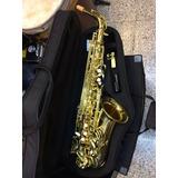 Saxofon Alto Laqueado Mercury Con Estuche Y Envio Gratis!!!