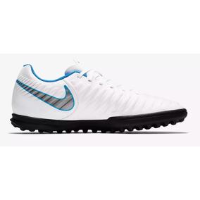 Chuteira Nike Society Azul E Branco Adultos - Chuteiras no Mercado ... 5084442c6ca4a