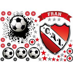 Vinilo Pelotazo + Escudo Fútbol Con Tu Nombre Personalizado