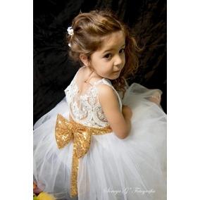 Vestido Para Niña Tutú Bautizo Presentación Paje