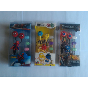 Audifonos Manos Libre Cap America Spider Man M&m Emoticones