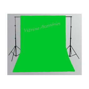 1 Tecido 2x3 Chroma Key Verde Estudio Foto Fundo Infinito