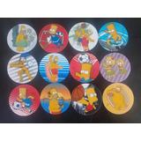 12 Mega Tazos De Los Simpson 2012 12 Flocks Peluche