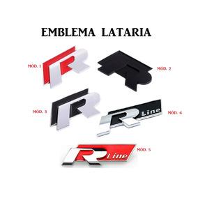 Emblema R-line Lataria Vw Jetta Passat Golf Tiguan Gol Fox