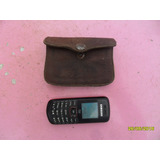 Antiguo Monedero Cuero Cartera Billetera Tipo Porta Celular