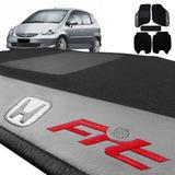 Jogo De Tapete Carpete Borda Honda New Fit 2008 Preto