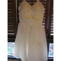 Vestido 15 Años Blanco Perla Talla 8 O 10 Perfecto