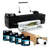 Plotter Hp T120 24 Pulgadas + Cartuchos 711 + Rollo Plotter