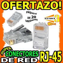 Wow Conector Rj45 X20 Pieza Para Cable De Red Cat5e Ethernet