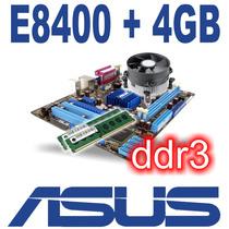 Kit Asus Ddr3 + Core 2 Duo 1333mhz E8400 + 4gb + Fan