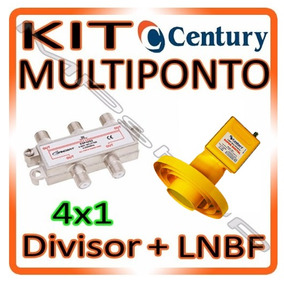 Kit Lnbf Multiponto Century Super Digital + Divisor 4x1