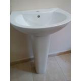 Lavamanos Con Pedestal Blanco De Lujo