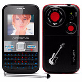 Celular Mp20 Q5 Fashion Teclado Qwerty 2 Chips Preto Vermelh