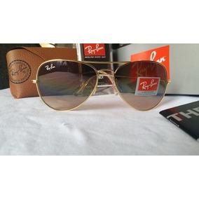 Oculos De Sol Ray Ban Aviator Degradê Tamanho 3 Na Caixa - Óculos ... ca596a58cf