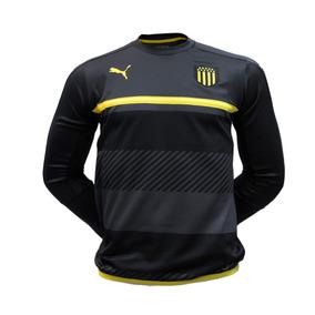 Buzo Training Sweat Negro Gris Puma Peñarol Rincón Hincha