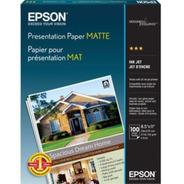Papel Epson Calidad Photo Quality Mate Carta 100 Hojas