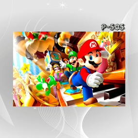 Poster Filme Cartoon Tv Game Pbw Super Mario Bros Decor Casa