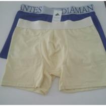 Kit Cuecas Boxer Diamantes Lingeries 2 Unidades Tamanho M