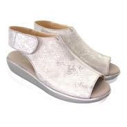 Sandalia De Mujer Suela Alta Chinela Completa 332a Modamia