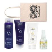 Combo Shampoo + Máscara Silver & Blond Vegan 5 Itens Mugenn