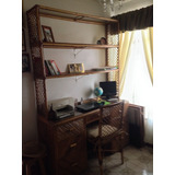 Mueble De Rattan Tipo Biblioteca