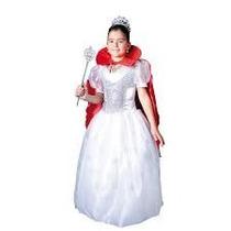 Disfraz Disfraces Carnavalito Reina Blanca Vestido Y Capa