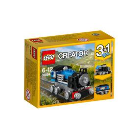 Brinquedo Lego Creator 3 Em 1 Trem Ferro Expresso Azul 31054