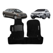 Jogo Tapetes Ecotap Soft Carpete Honda New Civic 07/13 Preto