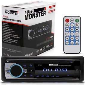 Radio Mp3 Bluetooth Usb Sd 4 Saídas 50w X 25 Rms Auto Radio