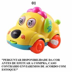 Brinquedo Carro De Corrida Cachorro Cartoon Movido A Corda