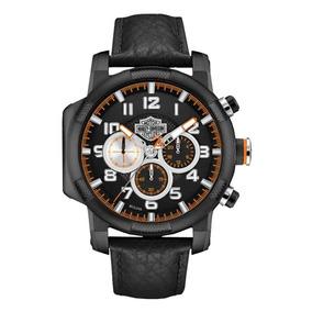 Reloj Harley Davidson Bulova Piston Negro Hombre