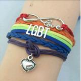 Pulsera Bandera Orgullo Lgtb Lesbiana Amor Novia Arcoiris
