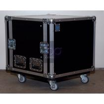 Hard Case Rack 6u Com Rodízios Para Potencias E Periféricos