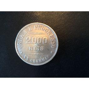 Moeda 2000 Réis - Xx Grammas - 1907 - Escassa - Em Prata Mbc