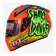 Casco Para Moto Mt Helmets Stinger Shark Naranja Motocity
