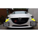 Set Luces Led Drl/alta Mazda 3 6 Cx 2014-2018 Envio Gratis