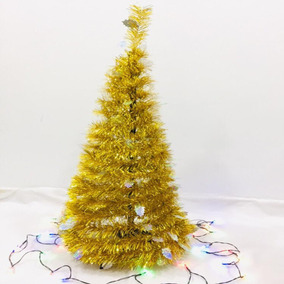 Arbol De Navidad Dorado Adornos Navidenos En Mercado Libre Argentina - Arboles-de-navidad-dorados