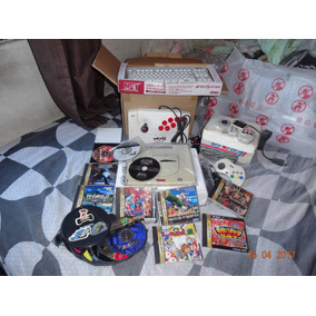 Sega Saturno Japonês C/ Vários Jogos E Acessórios Rarícimos