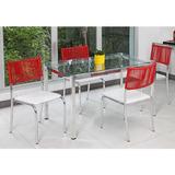 Conjunto Mesa Alegro M009 Com 4 Cadeiras C128 Em Alumínio 12