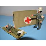 Soldado-enfermero Cruz Roja Articulados Con Carpa Y Camilla
